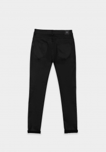 Tiffosi zwarte skinny broek leather look