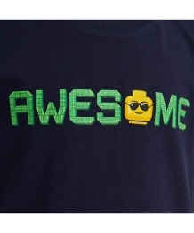 Lego Wear T-Shirt Awesome donkerblauw