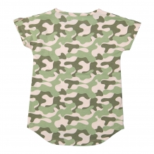 DJ Dutchjeans T-Shirt faded light pink & army green