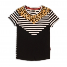 Dj Dutchjeans T-Shirt Leopard Black White