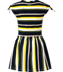 Chaos and Order Jurk Nikki Citrus Stripe